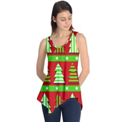 Christmas Trees Pattern Sleeveless Tunic by Valentinaart