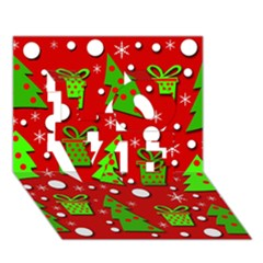 Christmas Trees And Gifts Pattern Love 3d Greeting Card (7x5) by Valentinaart
