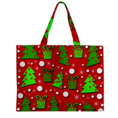 Christmas Trees And Gifts Pattern Zipper Mini Tote Bag by Valentinaart