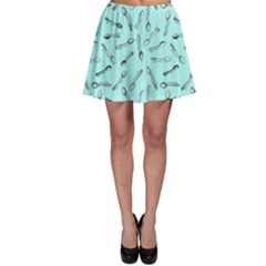 Spoonie Strong Print In Light Turquiose Skater Skirt by AwareWithFlair