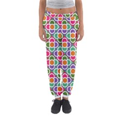 Modernist Floral Tiles Women s Jogger Sweatpants