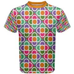 Modernist Floral Tiles Men s Cotton Tee