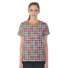 Modernist Floral Tiles Women s Cotton Tee