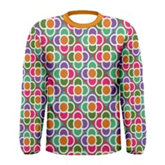 Modernist Floral Tiles Men s Long Sleeve Tee