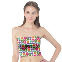 Modernist Floral Tiles Tube Top