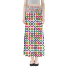 Modernist Floral Tiles Women s Maxi Skirt