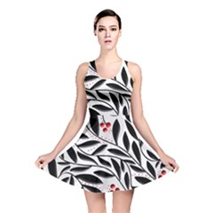 Red, Black And White Elegant Pattern Reversible Skater Dress by Valentinaart
