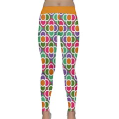 Modernist Floral Tiles Yoga Leggings