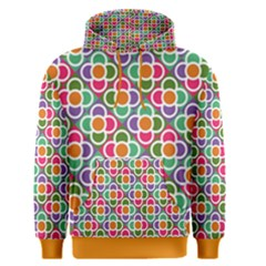 Modernist Floral Tiles Men s Pullover Hoodie
