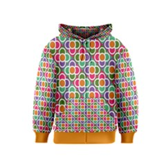 Modernist Floral Tiles Kids  Zipper Hoodie
