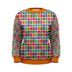 Modernist Floral Tiles Women s Sweatshirt