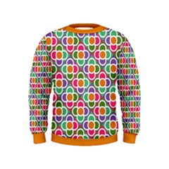 Modernist Floral Tiles Kids  Sweatshirt