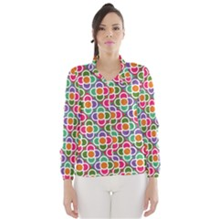 Modernist Floral Tiles Wind Breaker (Women)