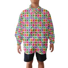Modernist Floral Tiles Wind Breaker (Kids)
