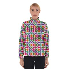 Modernist Floral Tiles Winter Jacket