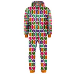 Modernist Floral Tiles Hooded Jumpsuit (Men)