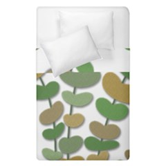 Green Decorative Plant Duvet Cover (single Size) by Valentinaart
