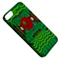 Flower girl with sunrose in her hair and panda bears Apple iPhone 5 Classic Hardshell Case View5