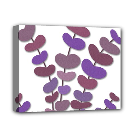 Purple Decorative Plant Deluxe Canvas 14  X 11  by Valentinaart
