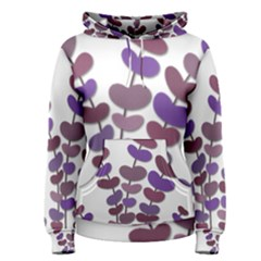 Purple Decorative Plant Women s Pullover Hoodie by Valentinaart