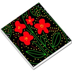 Red Flowers Small Memo Pads by Valentinaart