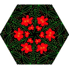 Red Flowers Mini Folding Umbrellas by Valentinaart