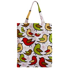 Decorative Birds Pattern Zipper Classic Tote Bag by Valentinaart