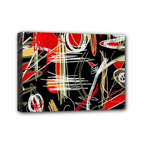 Artistic Abstract Pattern Mini Canvas 7  X 5  by Valentinaart