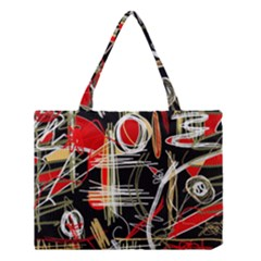 Artistic Abstract Pattern Medium Tote Bag by Valentinaart