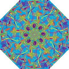 Colorful Abstract Pattern Straight Umbrellas by Valentinaart