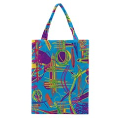 Colorful Abstract Pattern Classic Tote Bag by Valentinaart