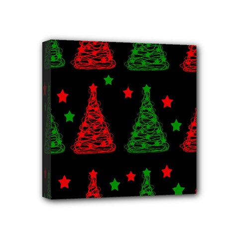 Decorative Christmas Trees Pattern Mini Canvas 4  X 4  by Valentinaart