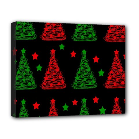 Decorative Christmas Trees Pattern Deluxe Canvas 20  X 16   by Valentinaart