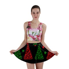 Decorative Christmas Trees Pattern Mini Skirt by Valentinaart