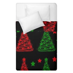 Decorative Christmas Trees Pattern Duvet Cover (single Size) by Valentinaart