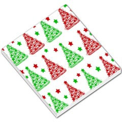 Decorative Christmas Trees Pattern - White Small Memo Pads by Valentinaart