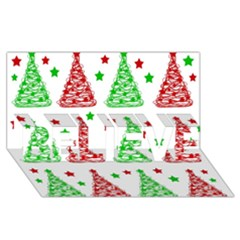 Decorative Christmas Trees Pattern   White Believe 3d Greeting Card (8x4) by Valentinaart