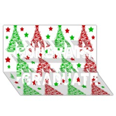 Decorative Christmas Trees Pattern   White Congrats Graduate 3d Greeting Card (8x4)