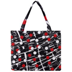 Red And White Dots Mini Tote Bag