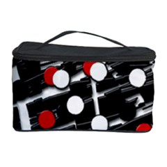 Red And White Dots Cosmetic Storage Case by Valentinaart