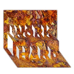 Rusted Metal Surface Work Hard 3d Greeting Card (7x5)