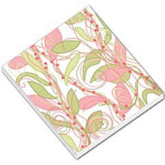 Pink And Ocher Ivy 2 Small Memo Pads by Valentinaart