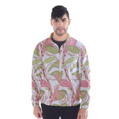 Pink And Ocher Ivy 2 Wind Breaker (men)