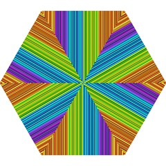 Colorful Lines Mini Folding Umbrellas by Valentinaart