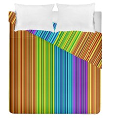 Colorful Lines Duvet Cover Double Side (queen Size) by Valentinaart