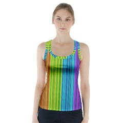 Colorful Lines Racer Back Sports Top by Valentinaart