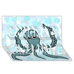 Octopus Congrats Graduate 3d Greeting Card (8x4) by Valentinaart