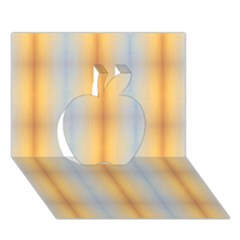 Blue Yellow Summer Pattern Apple 3d Greeting Card (7x5) by Costasonlineshop