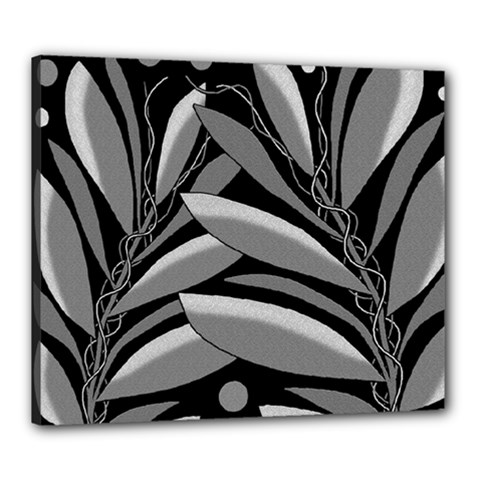 Gray Plant Design Canvas 24  X 20  by Valentinaart