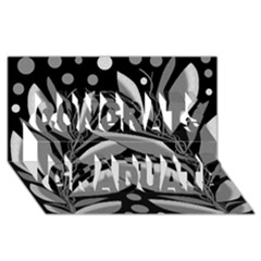 Gray Plant Design Congrats Graduate 3d Greeting Card (8x4) by Valentinaart